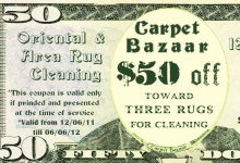 $50 coupon on oriental rug cleaning