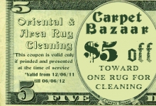 $5 coupon on oriental rug cleaning